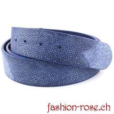 Kobaltblauer Ledergürtel Wechselgürtel für Gürtelschnalle Malu, Rind, Fashion, Skate, Cobalt Blue, Silver Decorations, Moda, Fasion