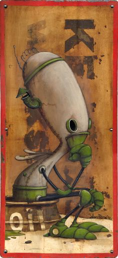 Johan Potma is a Dutch painter and illustrator who lives and works in Berlin - The Thinker Monster Illustration, Children's Book Illustration, Character Illustration, Alien Art, Lowbrow Art, Cute Monsters, Weird Creatures, Pop Surrealism, Monster Art