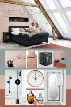 Pink is a color we see increasingly in contemporary interior design trends, and when combined with delicate green, cognac- and leather hues it creates an elegant and playful expression. Complete a trendy bedroom with a comfortable Jensen bed. Photo: http://jensen-beds.com/ http://www.andreasengesvik.no/ http://www.georgjensen.com/ https://hoie.no/ http://www.laurabilde.dk/ http://lady.inspirasjonsblogg.jotun.no/ http://kristinadam.dk/ http://www.utopiaandutility.eu…