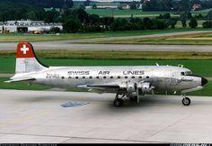 Aviation Photo Douglas - Swissair - Swiss Air Lines (South African Airways Historic Flight) Propeller Plane, Aircraft Propeller, Douglas Dc 4, Mcdonald Douglas, Douglas Aircraft, Swiss Air, Passenger Aircraft, Air Festival, Vintage Airplanes