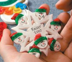 Homemade Family ornament. What a cue idea by: Hey, Good Lookin', Whatcha Got Cookin?!: Salt Dough