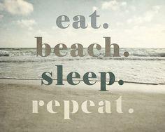 Beach Decor Beach Quotation Florida Art Beach by LisaRussoFineArt