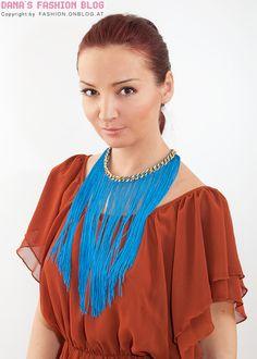 Designers DIY Tutorial: Statement fringe necklace a la Missoni make yourself.
