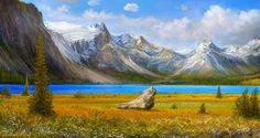 "Rocky mountains scene attempt VI. Too funny Andre calls his work ""Attempts"" :P Haha! Amazing! :o"