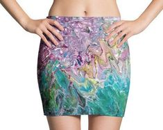 pouryourheartout Etsy Vegan Clothing, Ethical Clothing, Stationary Gifts, Acrylic Pouring, Psychedelic, Tie Dye Skirt, Sequin Skirt, Etsy Seller, Unique