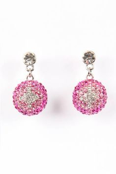 Crystal Drops - Pretty in Pink #earrings
