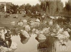 Ponte sobre lago na praça da República, c. 1910. Praça da República, São Paulo / Acervo IMS. Vincenzo Pastore.