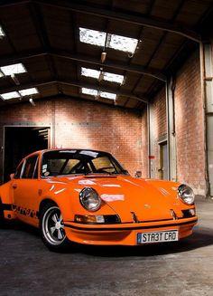 Beautiful old Porsche 911 in 'Tic Tac' orange