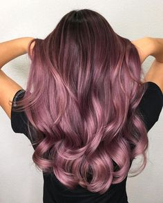28 Trendy Lilac Hair Shades, Check more at hairsmo. - 28 Trendy Lilac Hair Shades, Check more at hairsmoothening. Ombre Hair Color, Hair Color Balayage, Cool Hair Color, Brown Hair Ombre Purple, Pinkish Purple Hair, Red Ombre, Magenta Hair Colors, Purple Rose, Rose Brown Hair Dye
