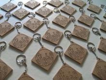 Sleutelhanger blokje Dog Tags, Dog Tag Necklace, Monogram, Michael Kors, Cnc, Pattern, Jewelry, Monogram Tote, Jewlery