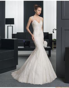 Meerjungfrau Glamouröse Moderne Brautkleider aus Softnetz mit Applikation