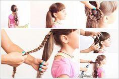 tutoriale-coafuri-fetite-16 Little Girl Hairstyles, Updos, Bobby Pins, Little Girls, Hair Beauty, Hair Accessories, Long Hair Styles, Color, Hair Tutorials