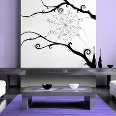 Spider web, Spider, Arachnid, Decal, Vinyl, Sticker, Wall, Home Decor   VinylWallAccents - Housewares on ArtFire