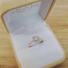Love Rose, Halo Rings, Halo Diamond, Weddingideas, Heart Ring, Wedding Rings, Rose Gold, Engagement Rings, Color