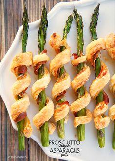 Prosciutto Wrapped Asparagus Puffs