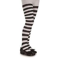 Ladies Girls Long BLACK/WHITE Over The Knee Striped Socks- One Size