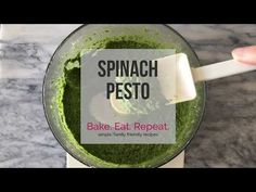 This spinach pesto is so quick and easy to make, you'll wonder why you ever bought pesto! It's the perfect, flavourful addition in so many recipes! (+video)