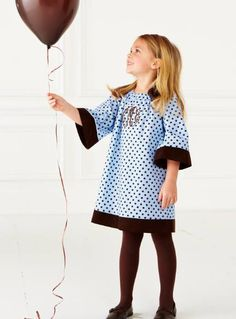 Kelly's Kids Paris Dress, Blue & Brown Dots Collection, Fall 2013 Come shop with me www.kellyskids.com/michellehthompson  Facebook page: https://www.facebook.com/MichelleThompsonKellysKids