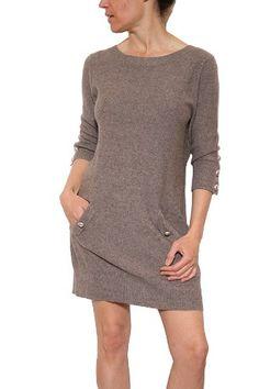 Women`s Greylin Button Back Sweater Dress in Mocha (bestseller)