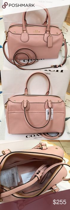 Coach Purse 100% Authentic Coach Purse Large Size, brand new with tag!Peach Rose color. Coach Bags Crossbody Bags