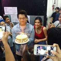 from - Blowing his cake from ASAP family. (Liza at the back tho) © - Lisa Soberano, Inigo Pascual, Half Filipino, Enrique Gil, Daniel Padilla, Star Magic, Jadine, Teen Actresses, Love