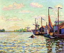 Armand Guillaumin Paintings Windmills on a Canal in Holland Art, Painting, Art Pictures Mary Cassatt, Pierre Auguste Renoir, Camille Pissarro, Claude Monet, Painting & Drawing, Watercolor Paintings, Art Pictures, Photos, French Impressionist Painters