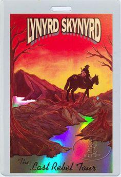 LYNYRD SKYNYRD 1993 LAST REBEL TOUR LAMINATED BACKSTAGE PASS FOIL PRINTED
