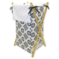 Trend Lab Versailles Hamper Set in Black and White - 21516