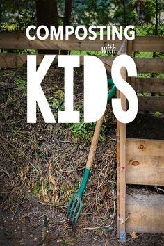 Composting with Kids #livingecology #permacultureinternship #edibleschoolyardproject