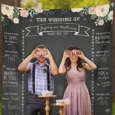 Custom Wedding Photo Booth Chalkboard, Wedding Photo Booth Backdrop Banner, Wedding Backdrop, Step and Repeat Backdrop/ W-G26-TP REG1 QQ9