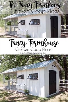 Farmhouse Chicken Coop Plans Build your very own Fancy Farmhouse Chicken Coop with these plans, complete with a model!Build your very own Fancy Farmhouse Chicken Coop with these plans, complete with a model! Chicken Coop Designs, Cute Chicken Coops, Diy Chicken Coop Plans, Chicken Coup, Chicken Pen, Backyard Chicken Coops, Building A Chicken Coop, Chickens Backyard, Clean Chicken