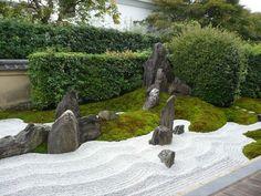grava blanca para jardines zen