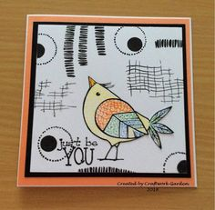 Abstract art card. Just Be You, Abstract Art, Playing Cards, Crafty, Garden, How To Make, Garten, Playing Card Games, Lawn And Garden