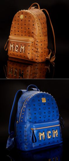 Finish off that cool fall ensemble with bold backpacks from MCM.
