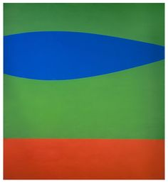 "Ellsworth Kelly, Blue Green Red, 1962-63. Oil on canvas, 91"" x 82."""