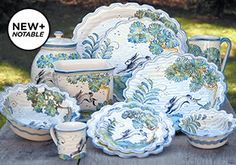 Hand-Painted Dinnerware by CE Corey