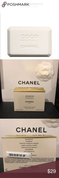 CHANEL CoCo Mademoiselle fresh bath soap CHANEL CoCo Mademoiselle fresh bath soap is a luminous white soap that gently cleanses and delicately scents skin with the fresh, modern oriental fragrance.  Notes of vibrant Orange mingle with the transparency of May Rose and the elegance of Patchouli. New and unused. Thank you for shopping my closet. CHANEL Makeup