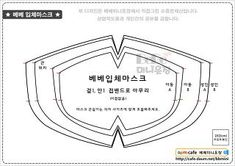 Sewing a Mouth Mask with a sewing machine, 입체마스크만들기 Fabric Crafts, Sewing Crafts, Sewing Projects, Diy Mask, Diy Face Mask, Mouth Mask, Sewing Patterns Free, Mask Design, Sewing Hacks