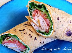 Dishing With Leslie: Sandwich Wrap With Garlic & Herb Cream Cheese Spread