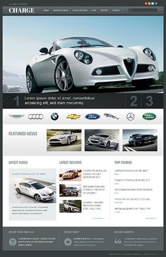Check out this Car WordPress Theme ( and you will fall in love with it. Clean, professional and simple design. Site Design, Tool Design, Car App, Professional Web Design, Free Website Templates, Ui Web, Web Design Trends, Mobile App Design, Web Design Inspiration