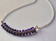 Smile Necklace  Amethyst and Sterling Silver by MarieCarter, $64.00