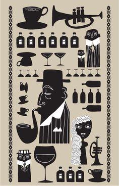 Jazz Cafe by polkadot , via Behance