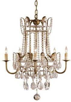 Large Laureate Chandelier design by Currey & Company