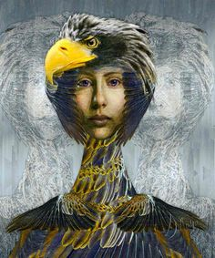 """Eagle Sisters"" #Painting by #Sinaya at: Sinayart.com or DigitalArtBySinaya on Facebook Contemporary Paintings, Game Of Thrones Characters, Sisters, Facebook, Fictional Characters, Art, Art Background, Kunst, Fantasy Characters"