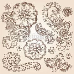 Mandala Tattoo Designs | Vector: Henna Paisley Mandala Tattoo Doodle Vector Design Elements Set
