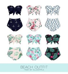 Sims 4 CC Finds (even though i don't have the game) Morbid Gamer — BEACH OUTFIT -retexture you can find similar pins below. We hav. Sims Four, The Sims 4 Pc, Sims 4 Cas, My Sims, Sims Cc, Sims 4 Mods Clothes, Sims 4 Clothing, Pool Outfits, Sims 4 Outfits