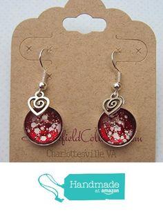 Silver-Tone Glitter Glass Swirl Heart Charm Dangle Earrings Red White Valentine's Day from Summerfield Collection http://www.amazon.com/dp/B019M2G1XQ/ref=hnd_sw_r_pi_dp_gFEGwb17JQ3TR #handmadeatamazon