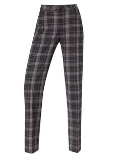 Perfect for Fall and Winter - Marguerite PING Ladies Golf Checked Trousers Black Cloud...