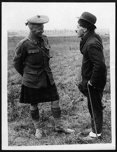 Charlie Chaplin talking to a Scot by National Library of Scotland, via Flickr