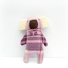 OOAK Koala Softie, Handmade Soft Toy, Australiana, Australian Animal, Eco Friendly Toy, Plushie Creature, Upcycled Art Doll by WinterOwls on Etsy